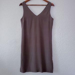 Cynthia Rowley 100% silk tunic shift dress gray
